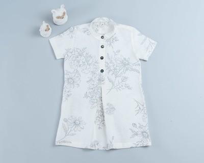 短袖岔裙洋裝-