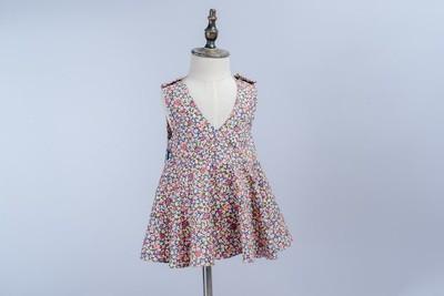 小v肩扣洋裝-訂製 花12