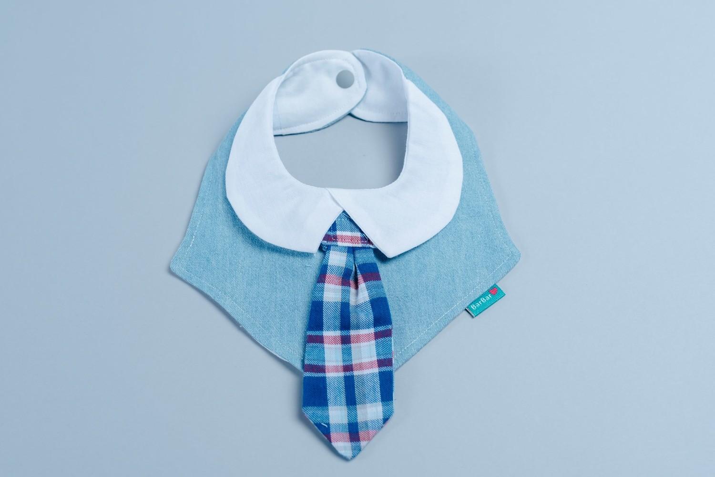 """可替換領帶口水巾-""""現貨"""" 淺牛"""