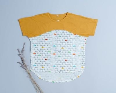 短袖上衣-訂製 交通2-紗vs輕薄1