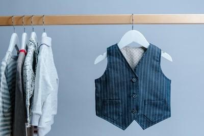 鈕扣口袋背心-訂製 線條3