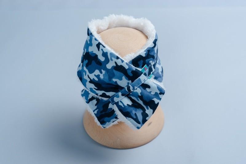 脖圍圍巾(雪花毛)-訂製 迷彩2