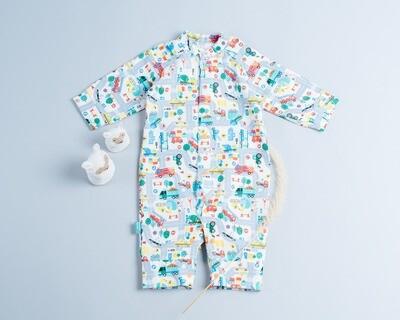 包屁連身衣(長袖)-訂製 布料需另外放到購物車