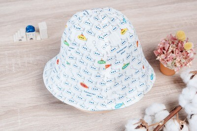 雙面漁夫帽-訂製 交通2-紗