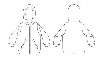 戴帽外套(100-120)-訂製