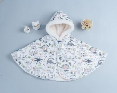 毛料斗篷-訂製 自然5vs雪花毛