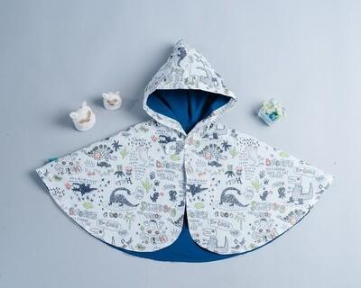 雙面雨衣斗篷-訂製 自然5