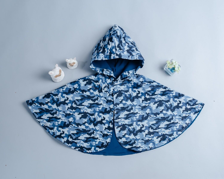雙面雨衣斗篷-訂製 迷彩2-紗