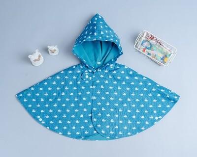 雙面雨衣斗篷-訂製 動物14-紗