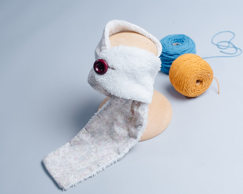 "鈕扣圍巾(約85cm)-花31 ""現貨"""