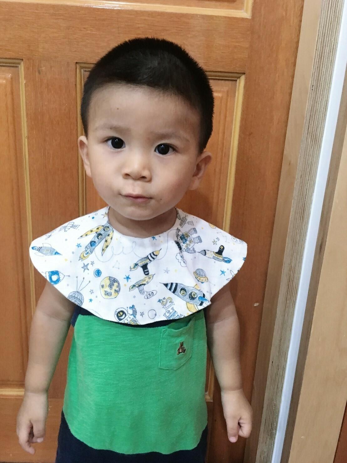 圓領口水巾-訂製 六層紗 嬰兒 圍 兜 推薦