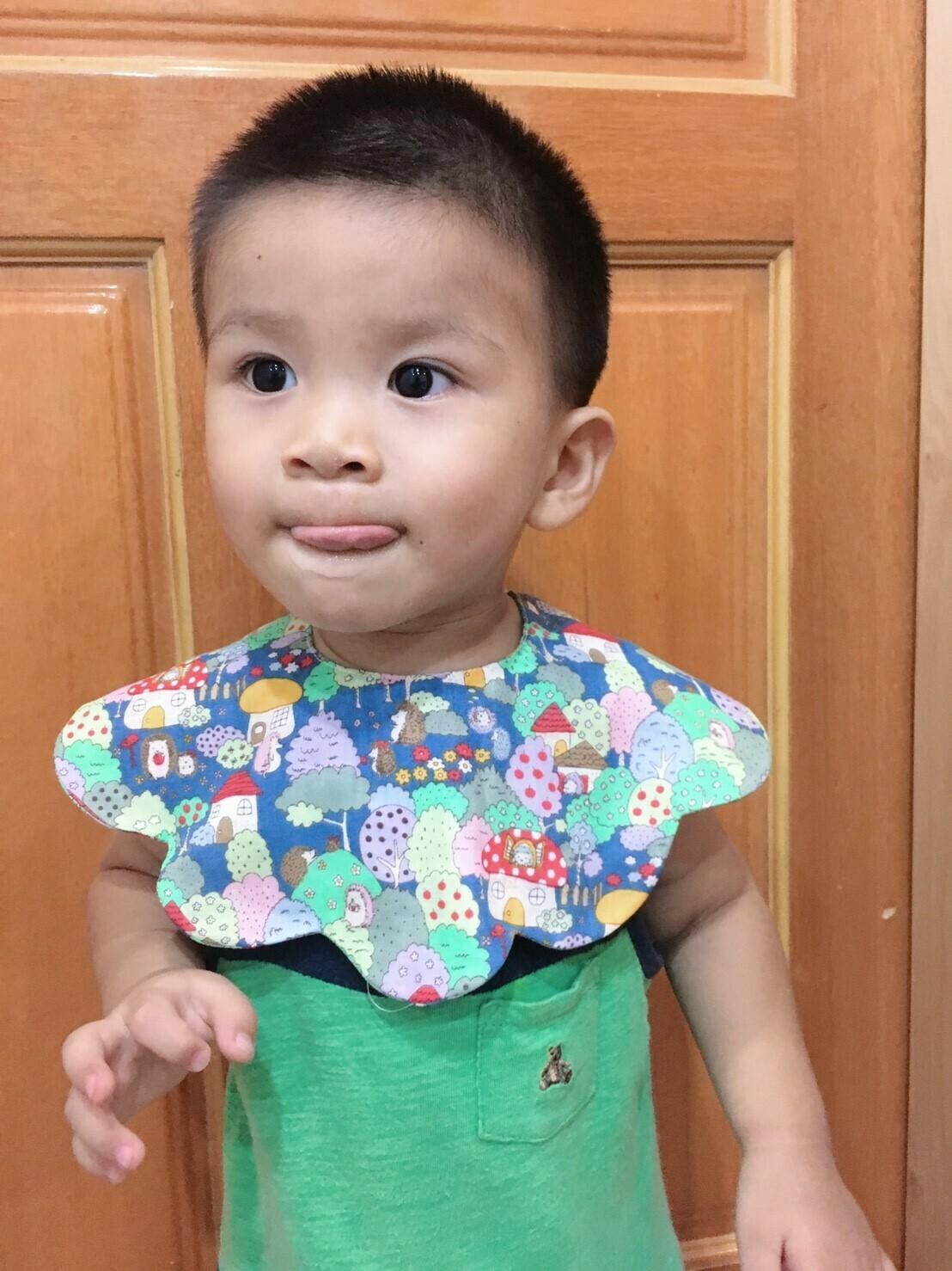 雲朵口水巾-訂製 六層紗 嬰兒 圍 兜 推薦
