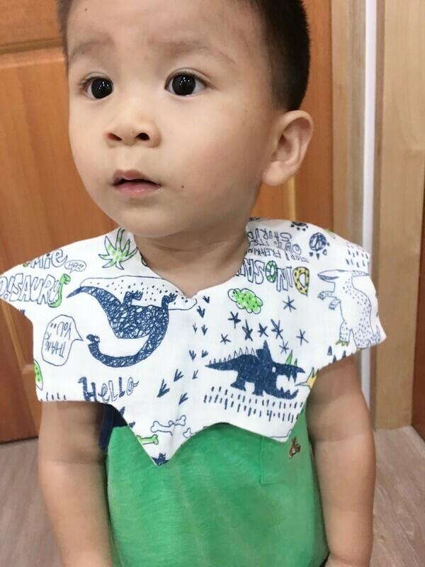 大星星口水巾-訂製 六層紗 嬰兒 圍 兜 推薦
