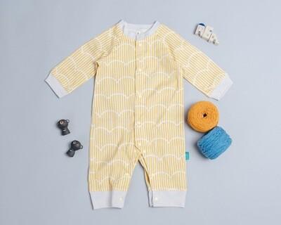 包屁連身衣(長袖)-幾何22-紗