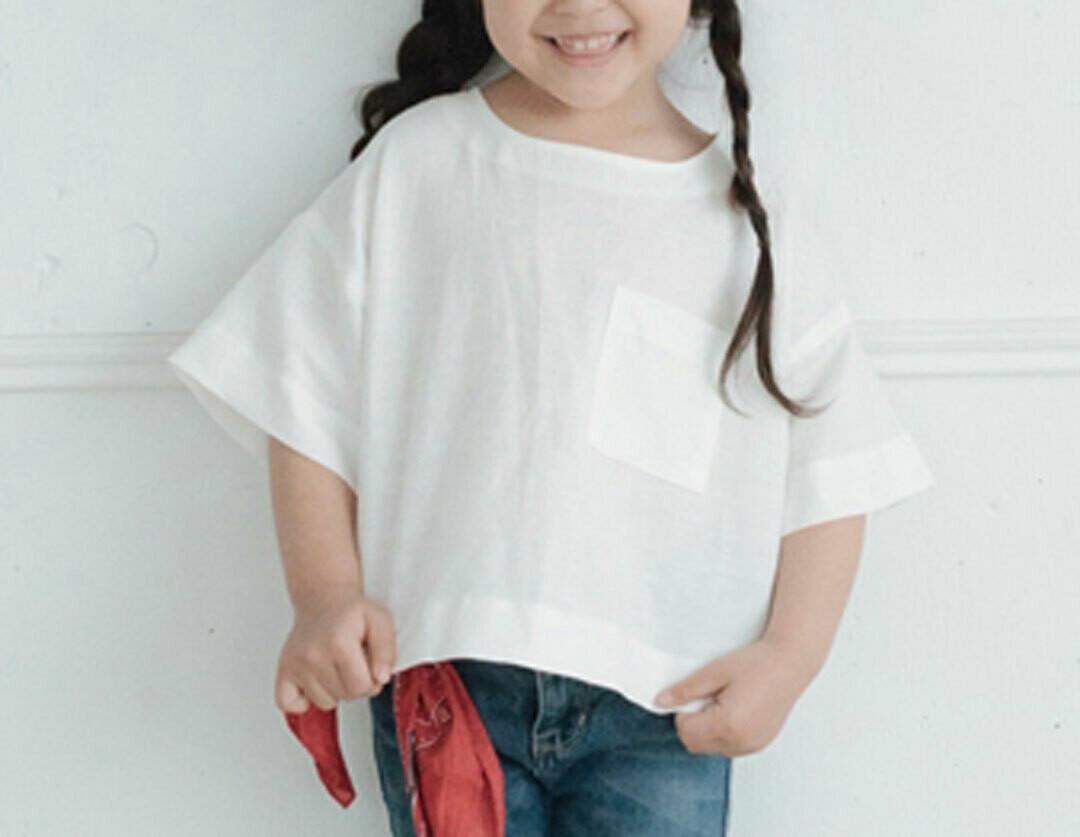 短袖涼感上衣-訂製 棉麻1 親子裝