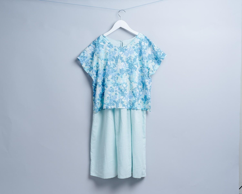 和風罩衫洋裝-大人 需要另外挑色製作