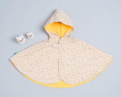 雙面雨衣斗篷-訂製 花43vs防潑D