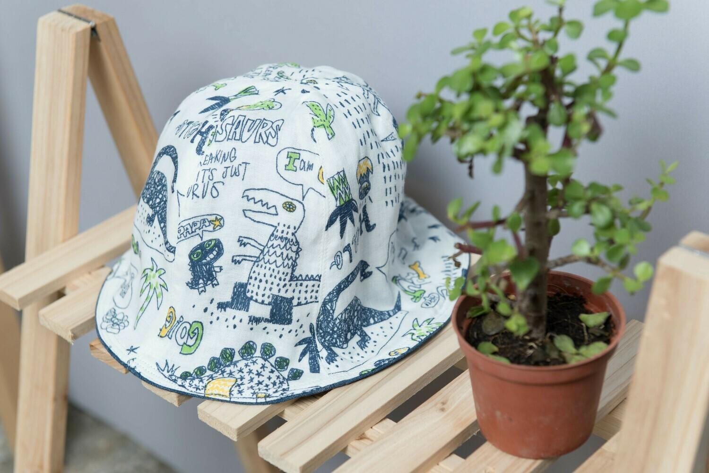 雙面漁夫帽-現貨 45-47cm 自然5-紗