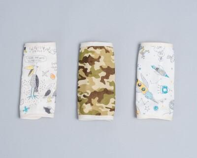 六層紗揹巾口水巾