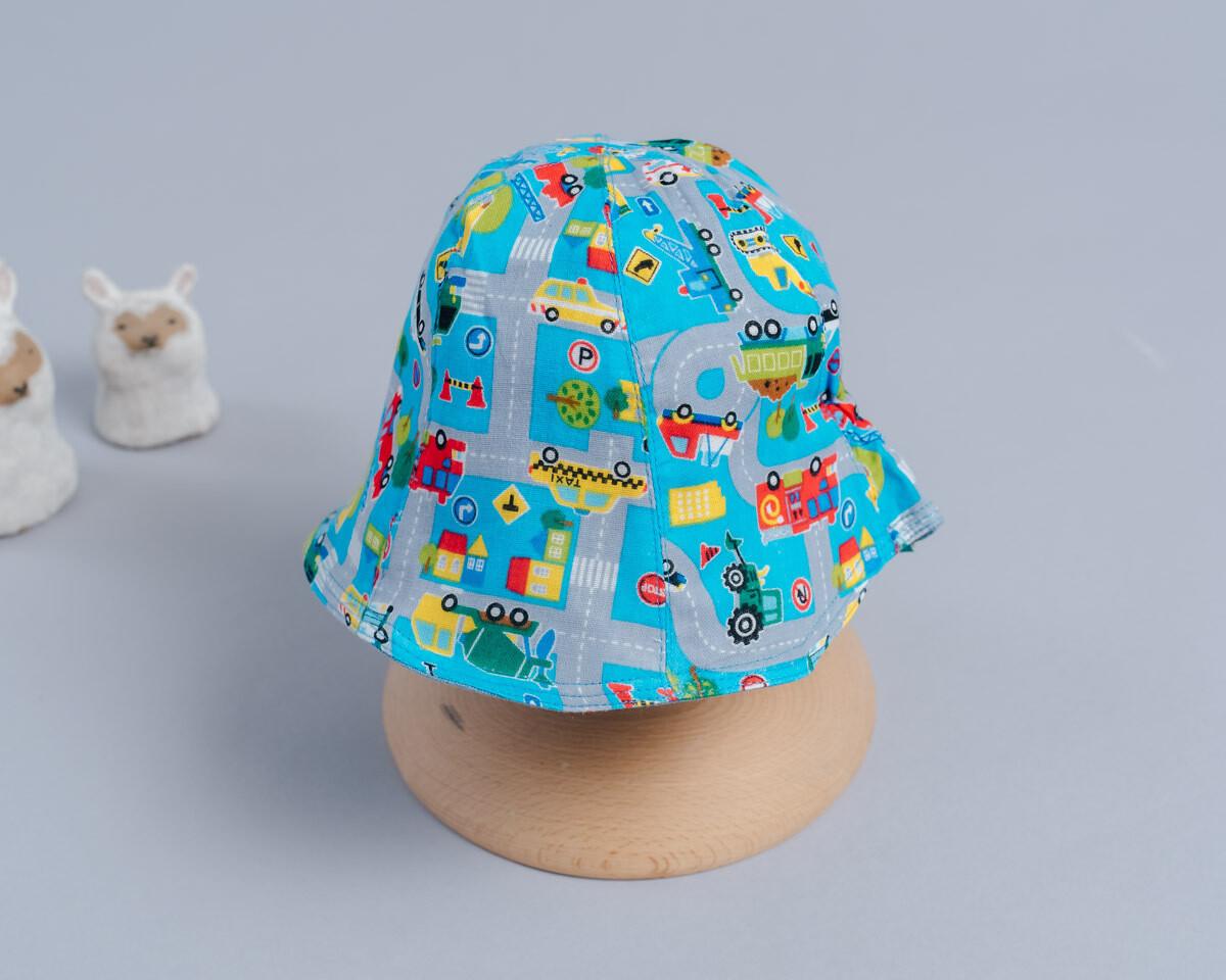 雙面漁夫帽-訂製 交通5-紗