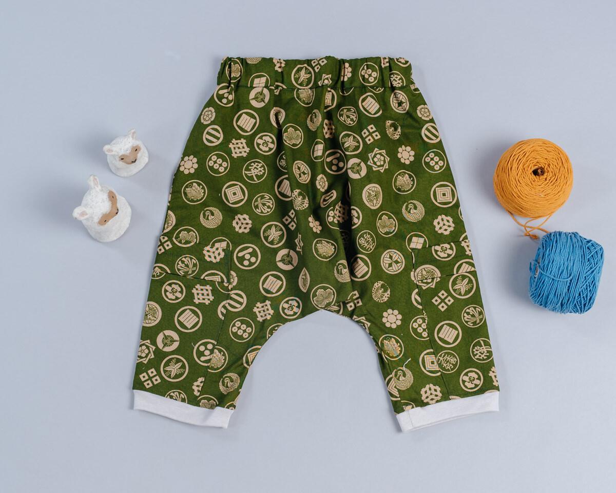 二重紗飛鼠褲-訂製 和風12