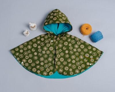 雙面雨衣斗篷-訂製 和風12