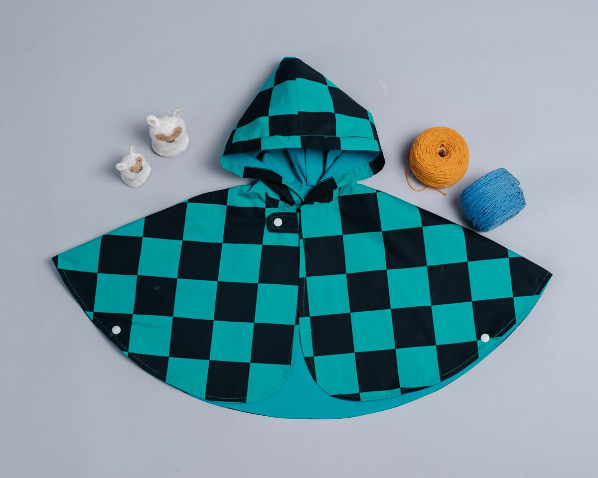雙面雨衣斗篷-訂製 和風1
