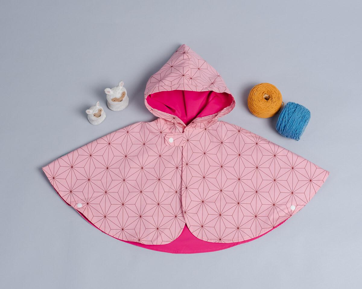 雙面雨衣斗篷-訂製 和風7