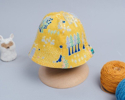 雙面漁夫帽-訂製 自然4