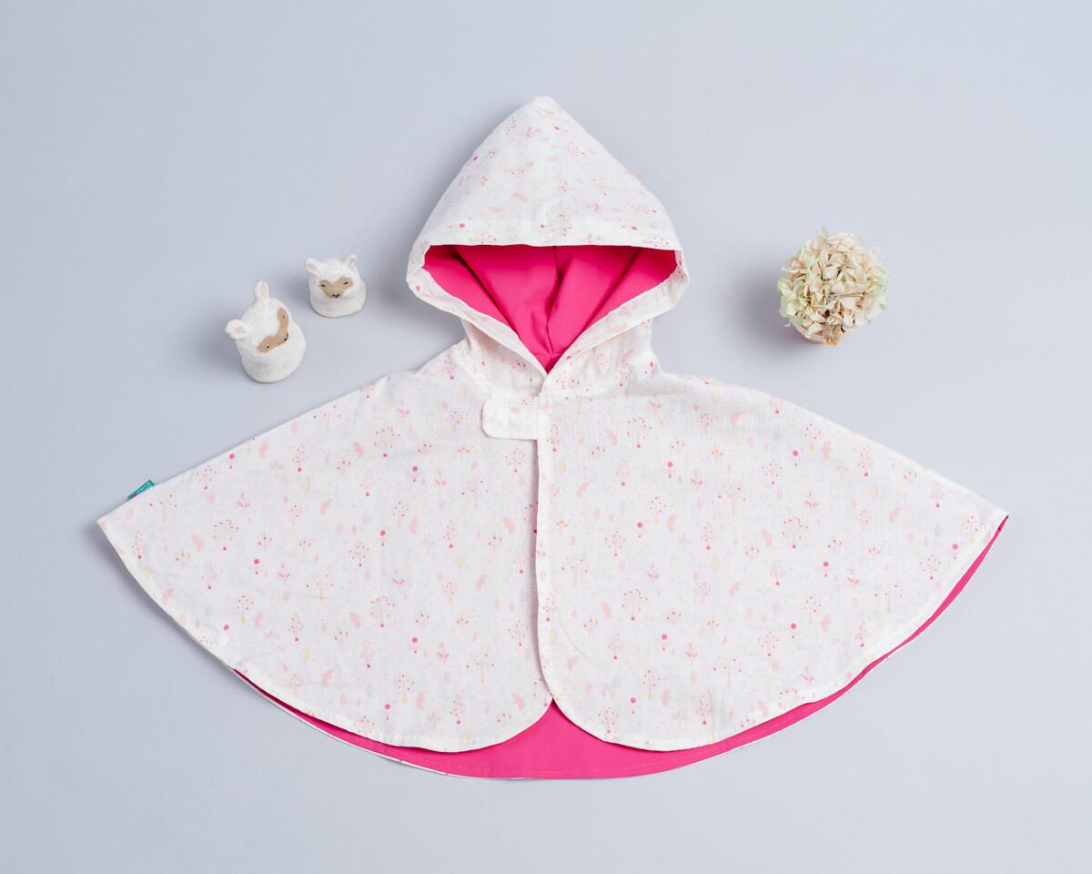 雙面雨衣斗篷-訂製 自然7