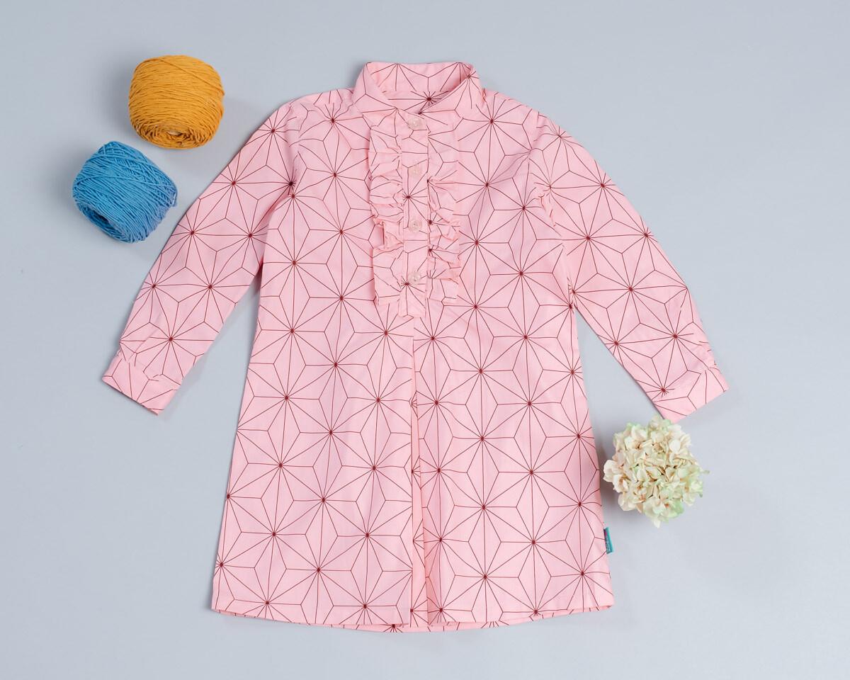 荷葉(長袖)洋裝-訂製 花32