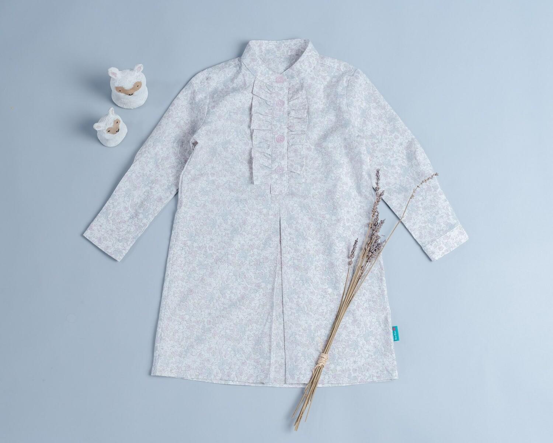 長袖荷葉洋裝-訂製 花31