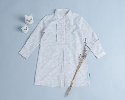 荷葉(長袖)洋裝-訂製 花31
