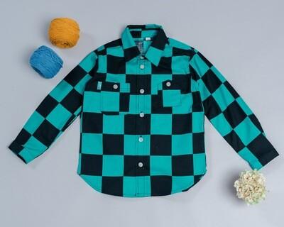 和風長袖襯衫-訂製 和風1