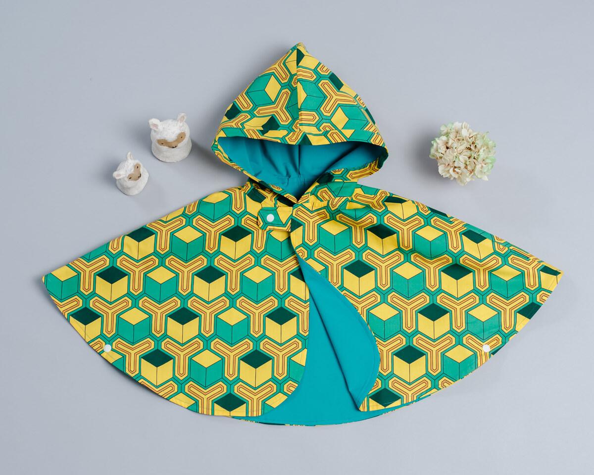 雙面雨衣斗篷-訂製 和風14