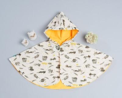 雙面雨衣斗篷-訂製 動物16-紗