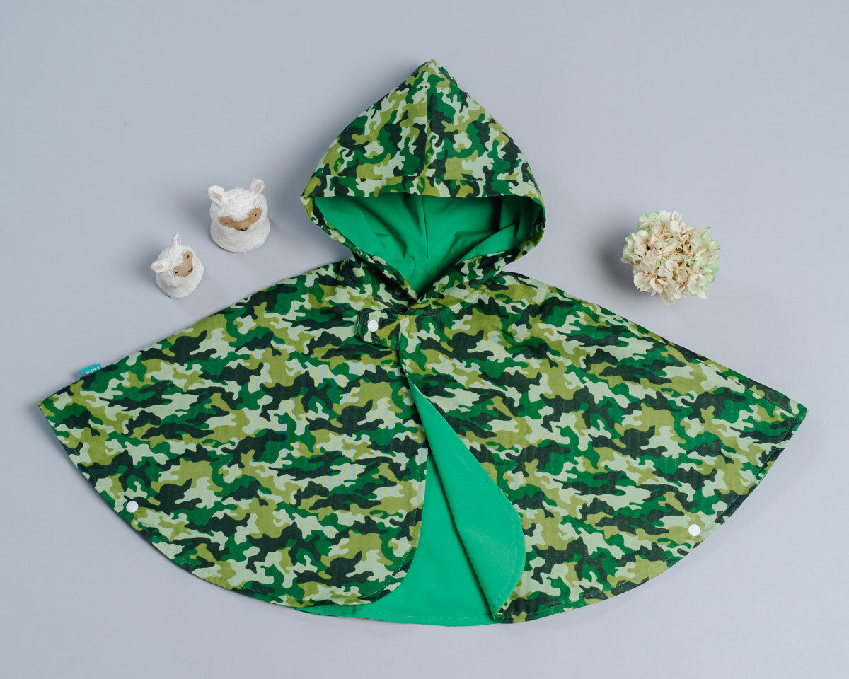 雙面雨衣斗篷-訂製 迷彩3-紗