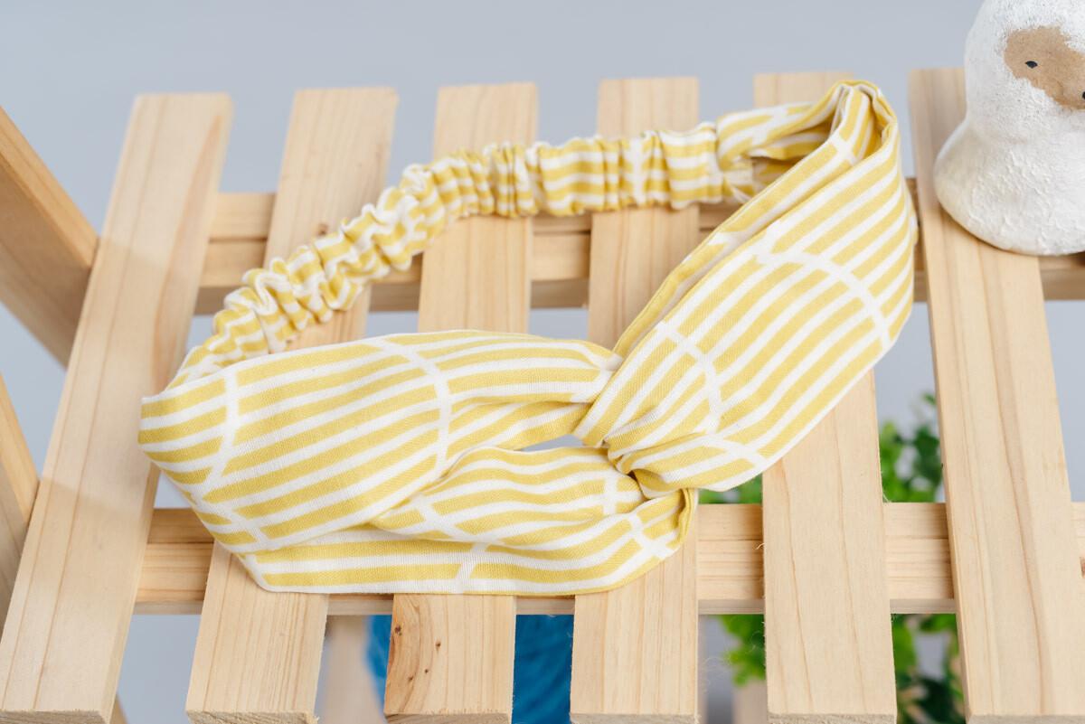 鬆緊帶髮帶-訂製 幾何22-紗