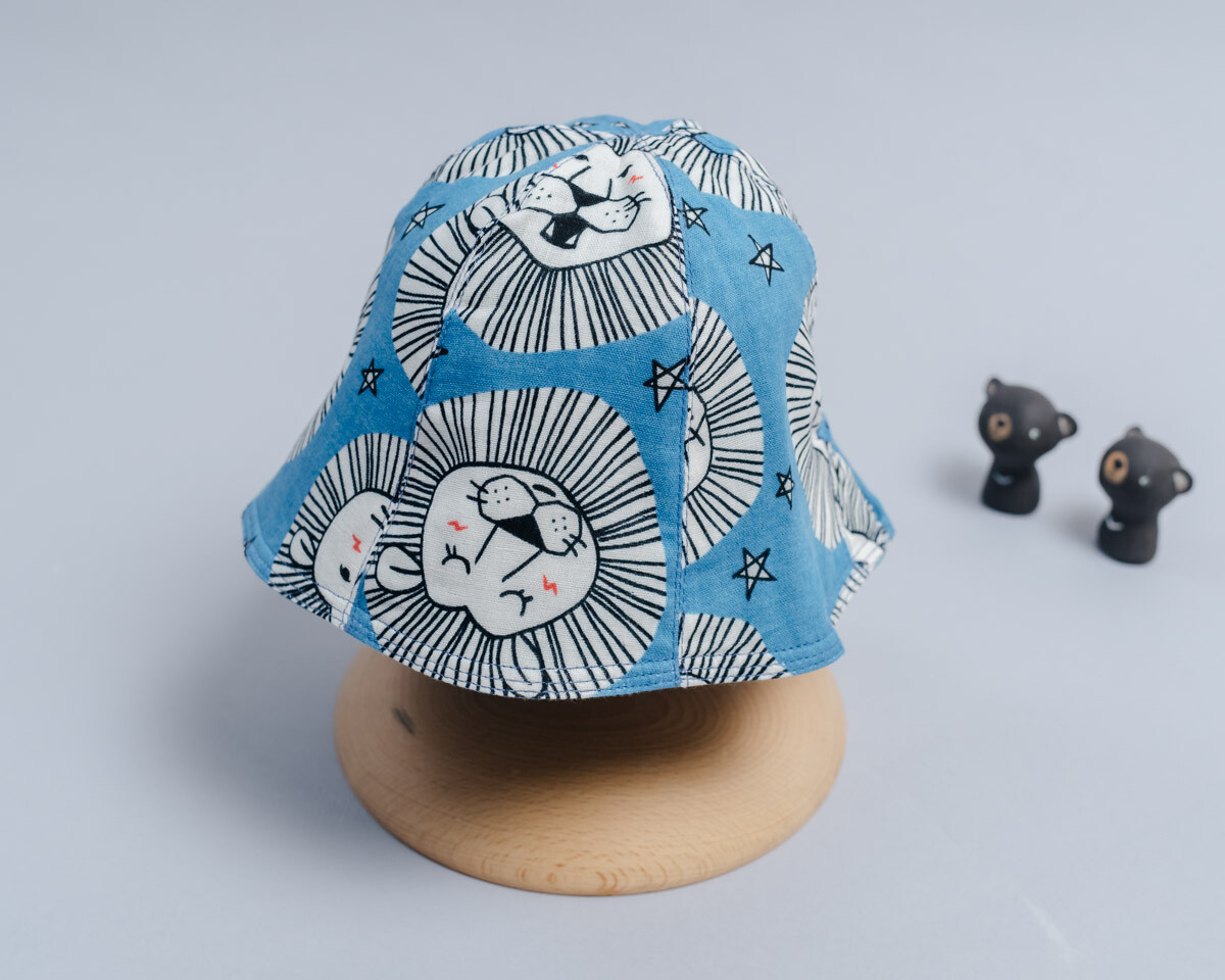 """雙面漁夫帽-""""現貨"""" 45-47cm 動物1-紗"""