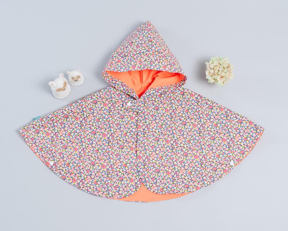 雙面雨衣斗篷-訂製 花12
