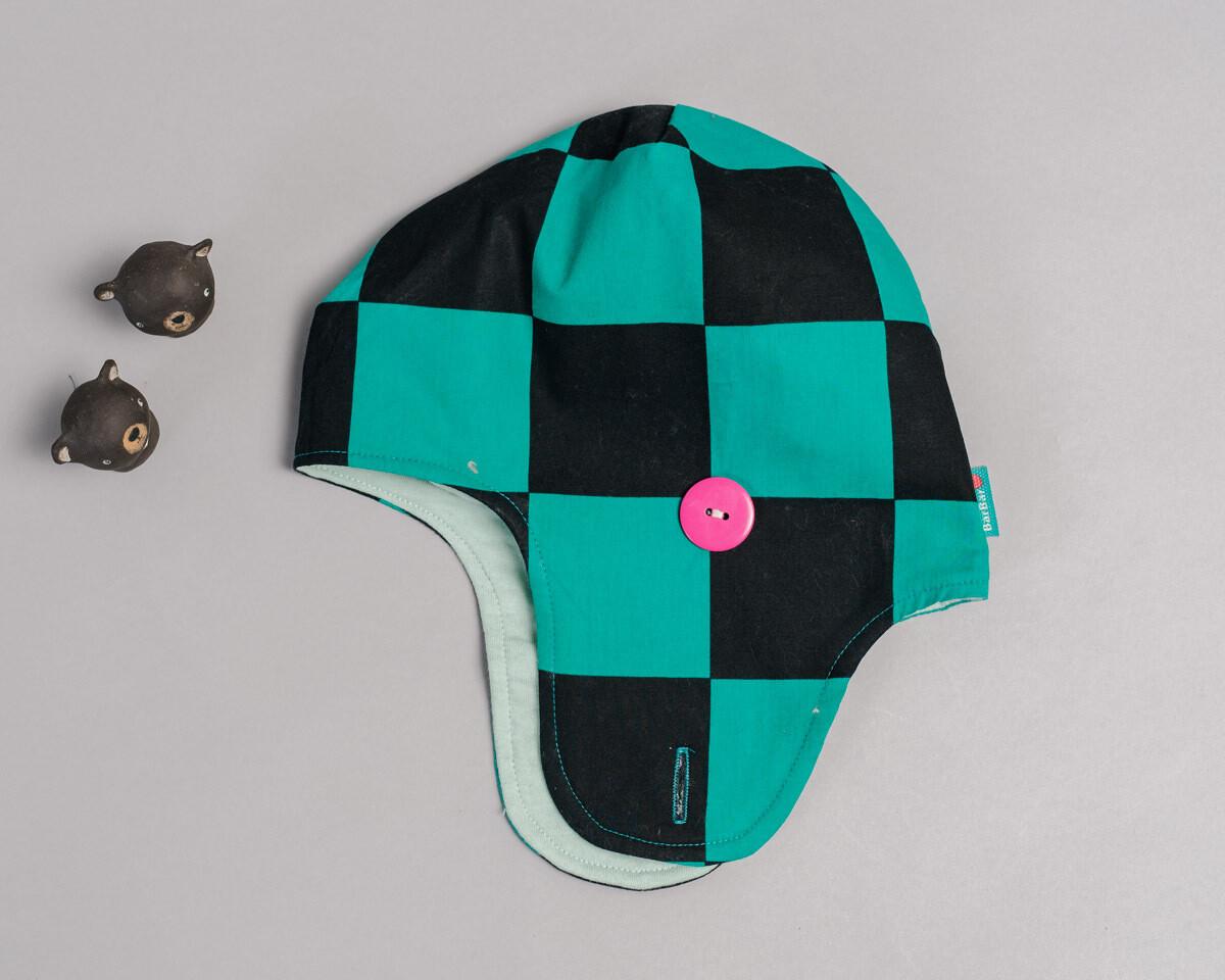 遮耳飛行帽(鋪棉)-訂製 和風1vs高厚7