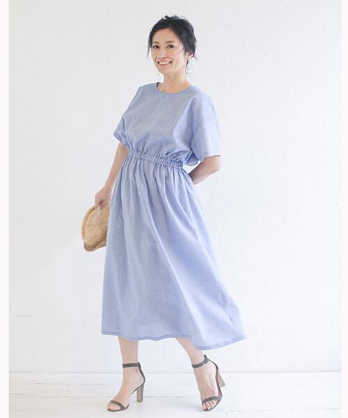 鬆緊帶連身洋裝(長袖)-訂製