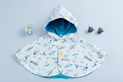 雙面雨衣斗篷-訂製 自然11