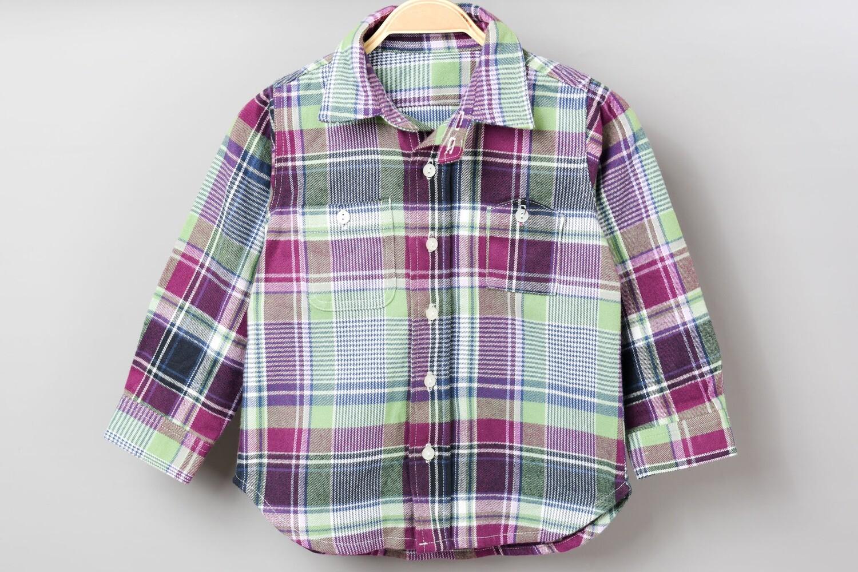 和風長袖襯衫-訂製 蘇格蘭