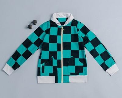微領拉鍊外套-訂製 和風1