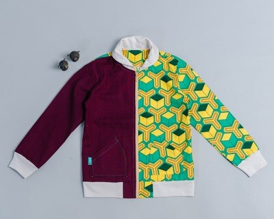 微領拉鍊外套-訂製 和風14vs暗紫
