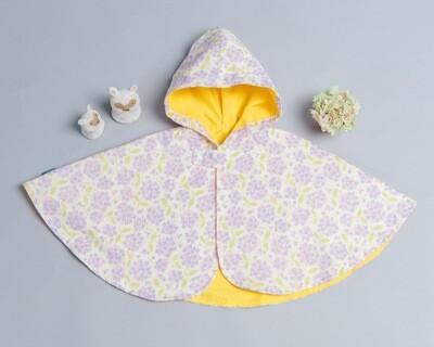 雙面雨衣斗篷-訂製 花11-紗