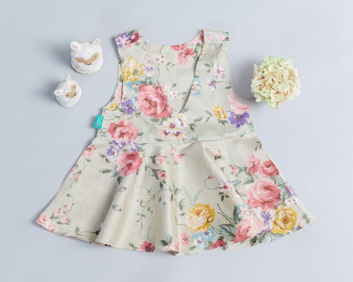 小v肩扣洋裝-訂製 花17