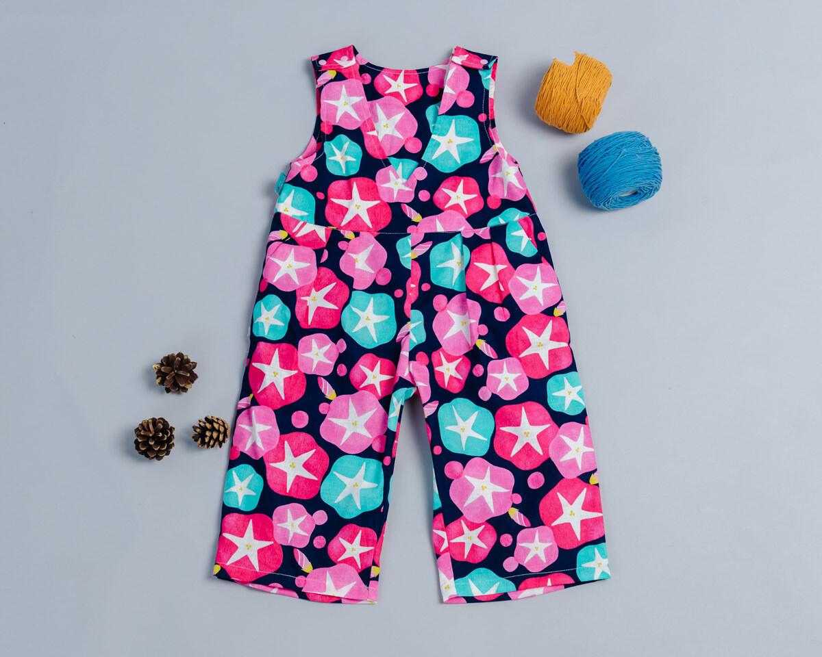 小v肩扣吊帶(長)褲-訂製 和風17