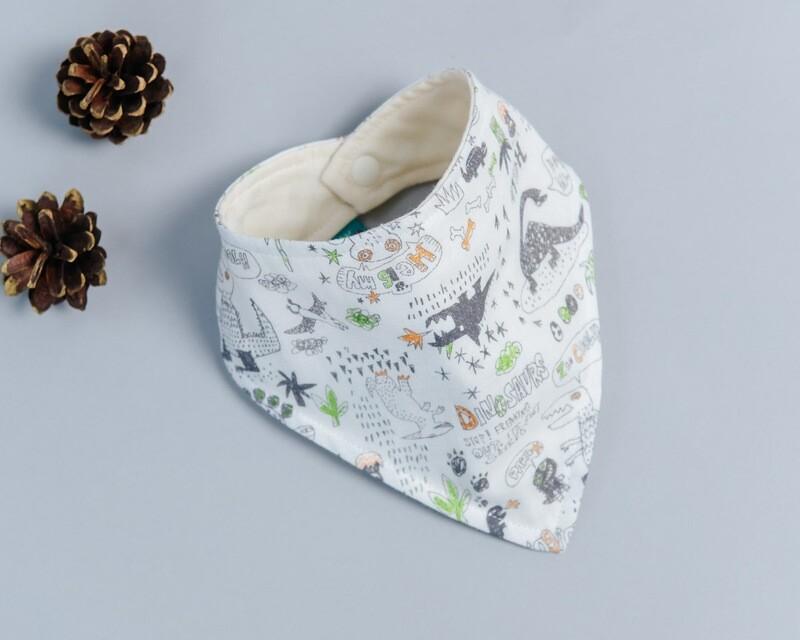 六層紗三角領巾-訂製 自然5